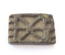 Antique African Ashanti Lost Wax Brass Gold Weight (Fortitude Beau) Symbol-Ghana
