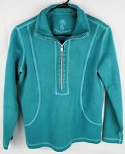 Tommy Bahama 1/4 zip pullover sweat shirt Teal Women's Small/Petite