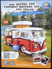 LEGO VEDES WERBEANZEIGE, VOLKSWAGEN VW T1 CAMPINGBUS .... , Zeitungsanzeige