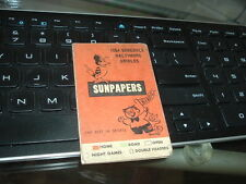 1954 Baltimore Orioles Sunpapers Pocket Schedule Tri-Fold Inaugural Year
