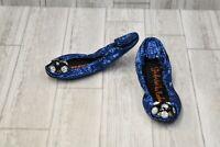 **Gabriella Rocha K100 Flats - Women's Size 7, Blue Glitter