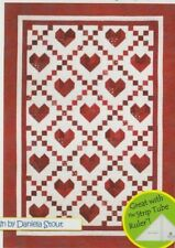 "Cross My Heart - pieced quilt PATTERN for 2.5"" strips - Cozy Quilts - 5 sizes"