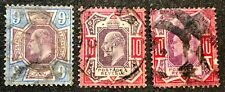 Great Britain Stamps #136-137 Used Color Variations 1902-11 cv$210
