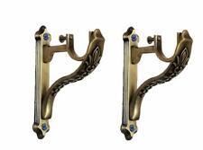 Brass Curtain Brackets/Holders Door and Window for Single Rod 1 Inch -2 Pcs UK