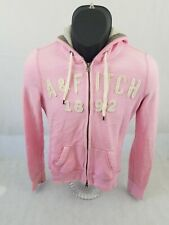 Abercrombie and Fitch 1892 Women Full Zip Hoodie Sweater Pink Medium