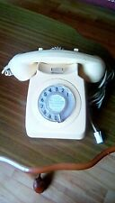 vintage telephone rotary dial cream colour, 1970/80s in working order.