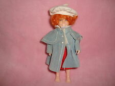 "Orphan Annie Knickerbocker 1982 Doll and outfit 5.5"" tall"