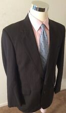 JOS A. BANK MENS 40R EXECUTIVE COLLECTION 100% WOOL 2 BUTTON GRAY PINSTRIPE SUIT