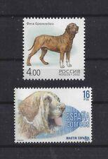 Dog Art Head Body Study Portrait Postage Stamp Spanish Mastiff 2 Different x Mnh