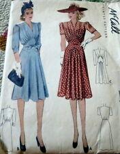 Lovely Vtg 1930s Dress McCall Sewing Pattern 16/34