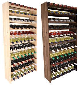 Weinregal Flaschenregal Weinschrank  für 77  Flaschen 142 cm RW-3-77 / 2 FARBEN