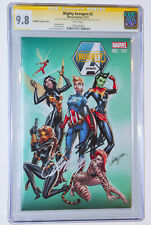 MIGHTY AVENGERS# 2 NYCC CGC 9.8 SS 3X by STAN LEE~DELGADO~CAMPBELL VARIANT HOT🔥
