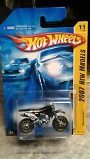 Hot Wheels Wastelander Motorcycle 2007 New Models Black, gold rims
