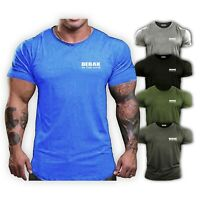 Mens Gym T Shirt - Bodybuilding Top MMA Workout Clothing  Training Vest BEBAK UK
