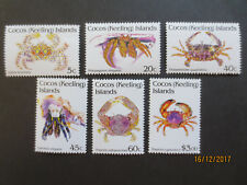 NO--1--1992  -COCOS   ISLAND - CRUSTACEANS  ISSUES--PART  1  --6  STAMPS  --MINT