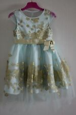 Monsoon Girls Duck Egg Amarylis Glitter Dress - Age: 5 Years