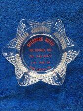 Pine Grove  Pa. Suedburg Hotel RARE Vintage  Glass Ash Tray