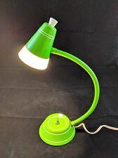 Vintage Goose Neck Lime Green Posable Desk Lamp Mid Century Modern Retro