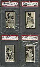 1938 F.C. CARTLEDGE FAMOUS FIGHTERS PSA 8 9 COMPLETE #7 SET LOUIS DEMPSEY BAER