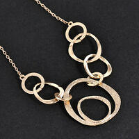Elegant Crystal Necklace Jewelry Statement Bib Pendant Charm Chain Choker Chunky