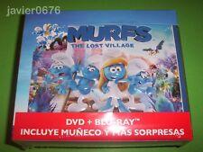 LOS PITUFOS LA ALDEA ESCONDIDA BLU-RAY + DVD NUEVO PRECINTADO EDICION LUNCHBOX