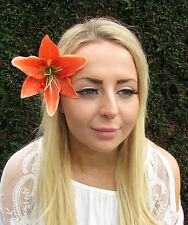Orange Tigre Lis Pince Cheveux Fleur Rockabilly Années 1950 Bandeau De Bibi 1817