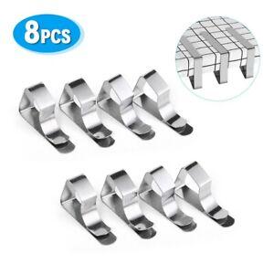 8x Edelstahl Tischtuch Klammern Tischdeckenklammer Tischtuchhalter Halter Clips