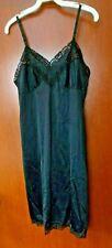 Lorraine Lingerie Vintage Full Black Dress Slip size 36 Rn34452