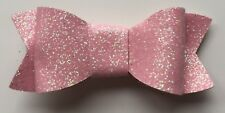 "Glitter Bows - Solid Colour 2.8"""