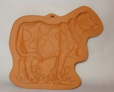 Cotton Press Cow Cookies Clay Mold Terra Cotta Baking Country