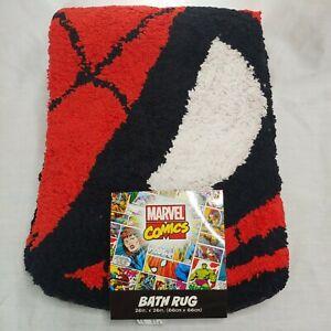 "Marvel Comics Spiderman Bath Rug 26"" x 26"" Round 100% Cotton Anti Slip"