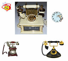 Vintage Decorative. Art-Deco Telephone Clock. Non-Working. 1950-60'S. Us Seller.