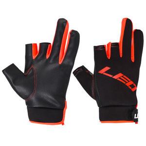Fishing Gloves 3 Cut Finger Half Finger Anti-slip Fingerless Sports Mit for Carp
