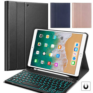For iPad Air 3 Gen 2019/Pro 10.5 2017 Keyboard+Leather Case With Pencil Holder