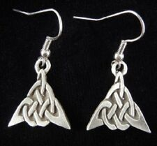 Knot Earrings Pewter Triangle Celtic
