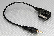 Audi Music Interface AMI 3.5mm 1/8 Mini Jack Aux Input MP3 Cable Adapter Cord