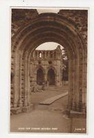 West Door Dryburgh Abbey Vintage Postcard 306a