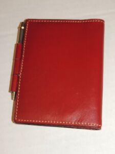 Vintage 1961 Hermes - Paris Dark Red Leather Note Book
