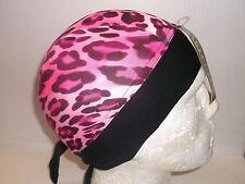 Adult Schampa Zandana  Pink Leopard  Print Bandana Motorcycle Headgear BC35173 T