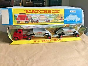 KING SIZE K-4 MAJOR M-4 LESNEY MATCHBOX GMC FRUEHAUF HOPPER TRAINNear Mint Box