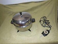Vtg FarberWare Electric Skillet Dutch Oven Pot Slow Cooker Fry Pan 5 Qt 320-A