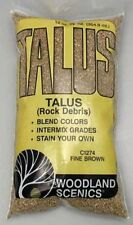 Woodland Scenics C1274 Talus Rock Debris - Fine - Brown - 25 Cu In Bag