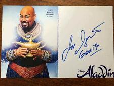 James Monroe Iglehart Tony Winner signed Disney's Aladdin Broadway musical card
