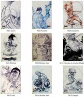 2018 Marvel Masterpieces Preliminary Art PA1-PA90 Card Singles PICK / Choose NM