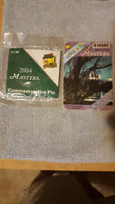 New listing 2004 MASTERS BADGE TICKET AUGUSTA and PIN 1RST PHIL MICKELSON WIN