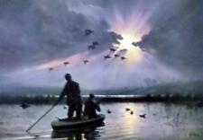 "Daybreak on the Marshes by Les Kouba Duck Hunting Art Print   12"" x 8"""