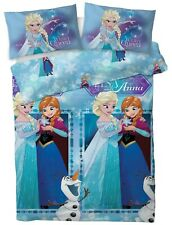 New Disney Frozen 2 Double Duvet Quilt Cover Set Girls Blue Bed Bedroom Gift