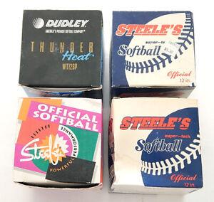 Lot De (4) Dudley & Steele's Balles En Boîtes Bleu Ciel Hawk Xlt Tonnerre