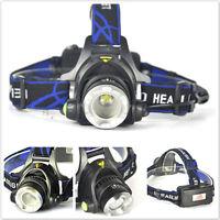 NEW 5000LM XM-L XML T6 LED 18650 Tactical Emergent Headlamp Headlight Light 、Fad