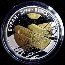 Kazakhstan:Bi-color Ag 500 tenge *BURAN*2014*SPACE* Tantalum, Proof Coin